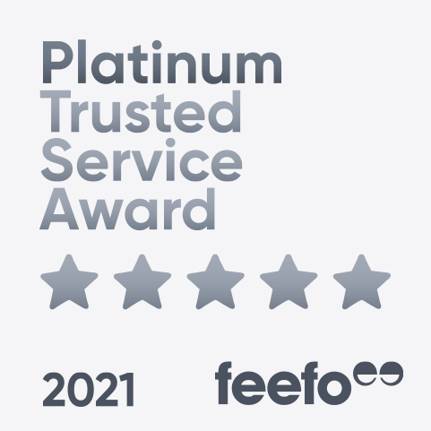 Feefo Platinum Award winner badge